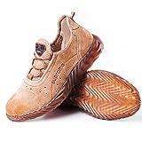 Zapatos de trabajo inferiores zapatos de trabajo de los hombres Carne tendón antipinchazo, resistentes al desgaste y antideslizante de goma ligera zapatos de suela blanda, for Mountain, Solar de const
