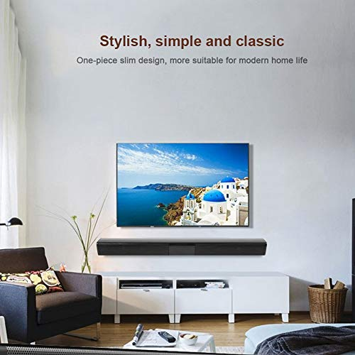 Derya Barra de Sonido para TV, procesador de Sonido DSP Integrado de 4 Altavoces, Sistema de Cine en casa con Sonido Envolvente Bluetooth, Ordenador para teléfono