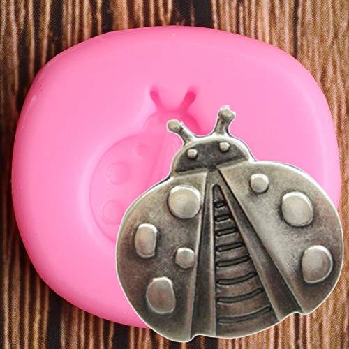 ZHQIC 3D Insekt Marienkäfer Silikon Formen Schokolade Fondant Form DIY Baby Party Kuchen Dekorationswerkzeuge Candy Polymer ClayFormen