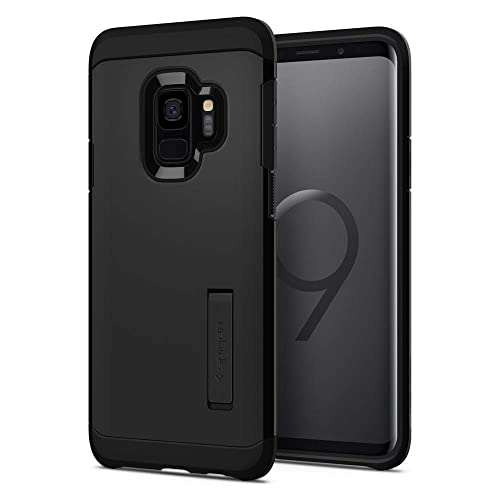 Spigen Galaxy S9 Case [Tough Armor] Reinforced Kickstand Heavy Duty Protection Air Cushion Technology Galaxy S9 Cover - 592CS22846 [Black]