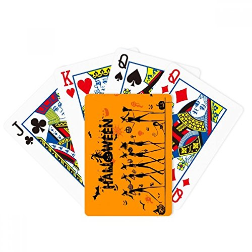 Halloween Long Legged Witch Cartoon Poker Jugando Magic Card Fun Juego de mesa