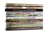 Inspirational Wall Art Motivational Scripture Bible Verse Wall Art Christian Canvas Art Poster Quotes Office Wall Decor for Living Room Art Print Home Decor, Biblical church wall art. Great Christian gift 12x16inchx1pcs