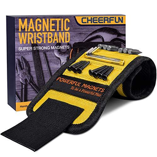 Geschenke für Männer Magnetarmband Handwerker - Beste Männer Geschenke Magnetisches Armband Werkzeug mit 15 Magneten, Handwerker Geschenke Weihnachten, Gadgets Geschenkideen für Vater/Papa/Freund