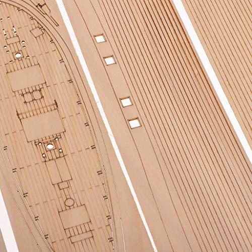 Baoblaze 1:30 DIY Holz 3D Schiff Segelboot Modellbausatz Kinder Basteln Spielzeug