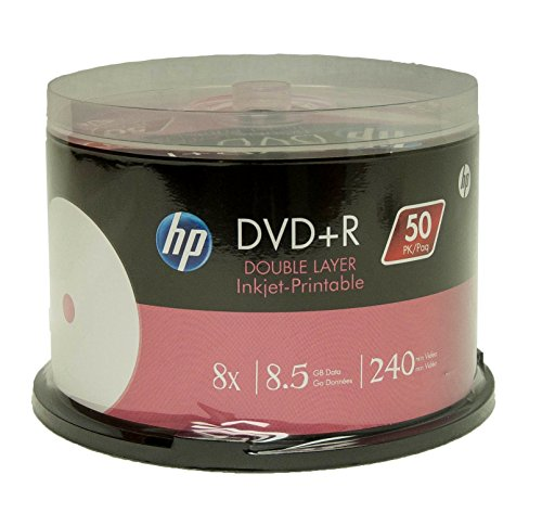 Hp DVD+R Dl Double Layer 8X 8.5Gb White Inkjet Printable