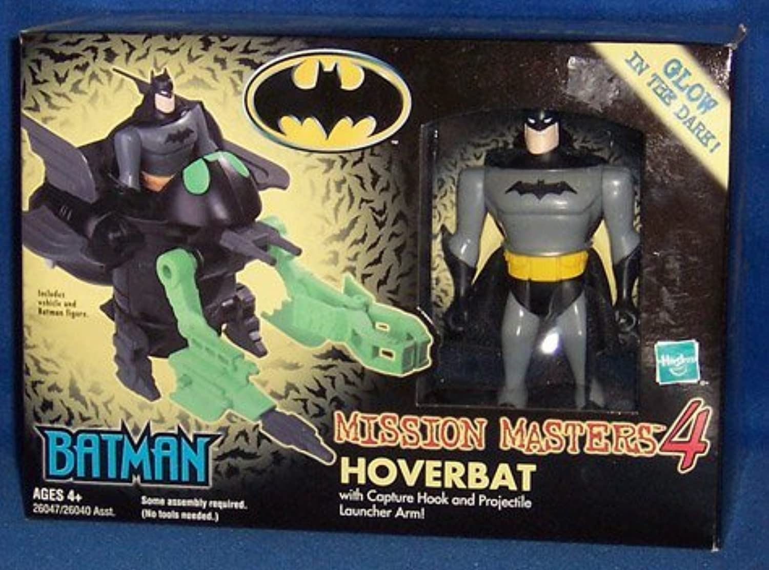 Hasbro Batman Mission Masters 4 Hoverbat With Exclusive Figure GlowinDark