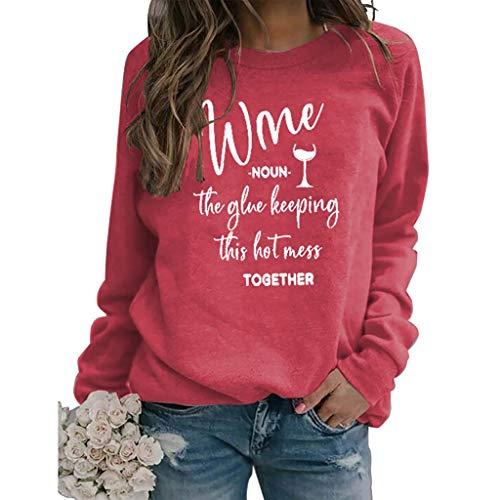 LXHcool Lustige Wein The Glue Halten Das 2020 Shitshow Zusammen Sweatshirt (Color : Red, Size : Medium)