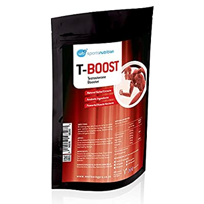 WBP T-Boost Anabolic Testosterone Booster for Men - Strongest Legal Extracts for Massive Increase in Muscle Size and Strength - Improved levels of Energy, Libido and Fertility from WellBeing Pro