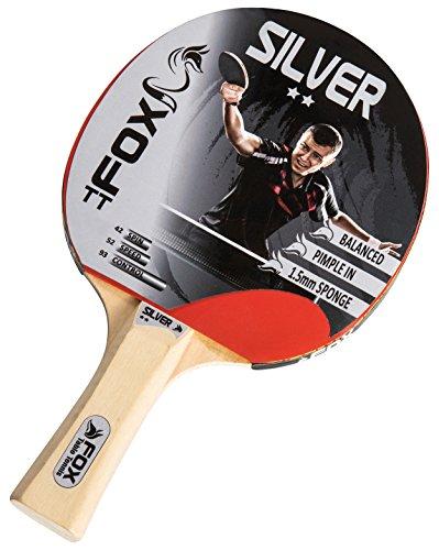 Fox TT Unisex Plata 2Star–Raqueta de Tenis de Mesa, Color Rojo