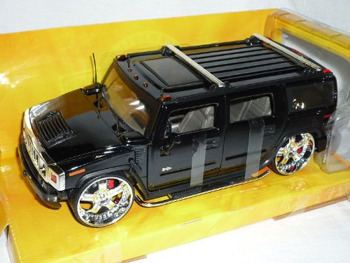 Jada Hummer H2 H 2 SUV Tuning Schwarz 1/24 Modellauto Modell Auto