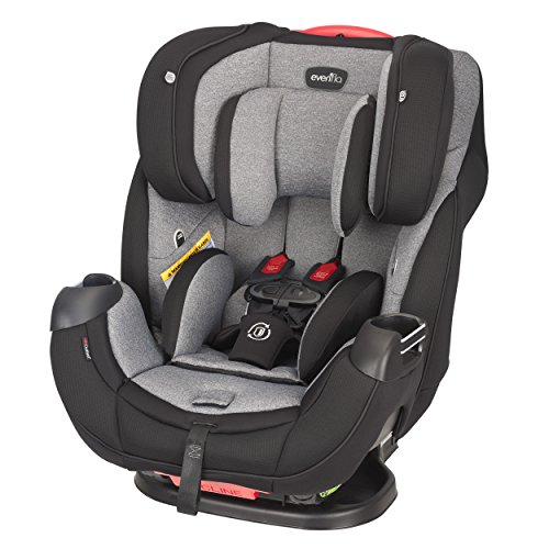 Evenflo Platinum Symphony Elite All-In-One Car Seat, Ashland Gray