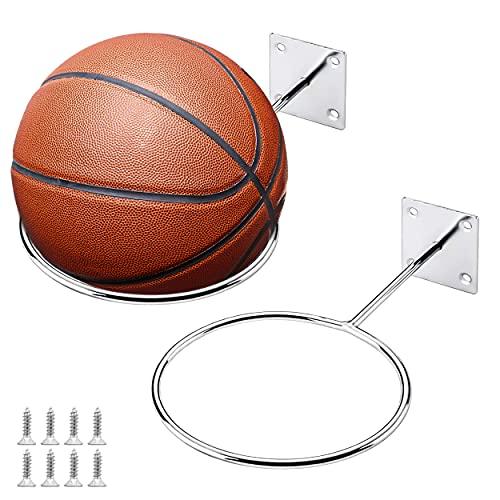 Generic Brands Supporti da Parete per Pallacanestro Stabile e Resistente all'Usura per Palloni da Basket per Lo Stoccaggio dello Stadio