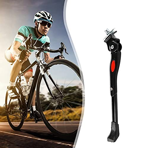 """NLIGHTING Cavalletto per Bicicletta, Regolabile Alluminio Lega Cavalletto Laterale, Supporto in Gomma Antiscivolo, per 24""""-27"""" Mountain Bike Bici da Corsa Biciclette Bici Pieghevoli"""