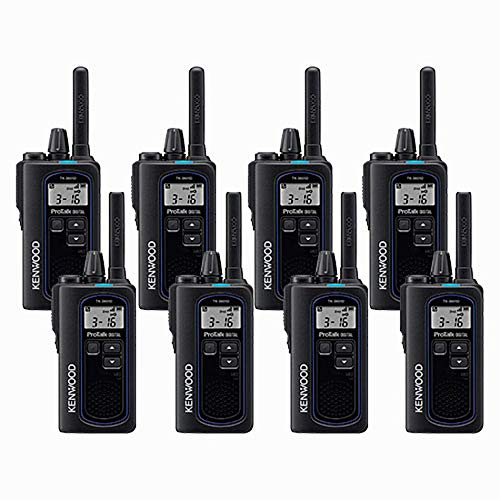 Kenwood NX-P500 ProTalk Digital Two-Way Radio (Pack of 8), Loud Audio, Rugged and Submersible, Analog and Digital Mode, 6 Channel Operation, Individual and Group Calls, 99 User-Programmable Frequencie