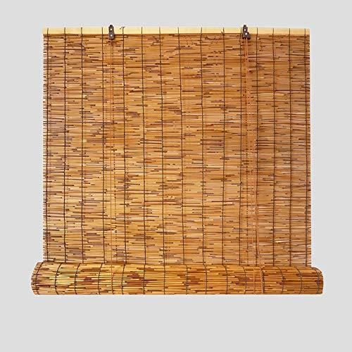 XYNH Rideau De Roseau - pour Portes Et Fenêtres Et Intérieur Et Extérieur,Enrouleur Bambou Naturel - Stores Filtrant La Lumière - Rétro Romain