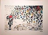 BANKSY - Headshot Butterfly litografía firmada y numerada