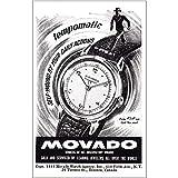 RelicPaper 1948 Movado Watch: Tempomatic, Movado Print Ad