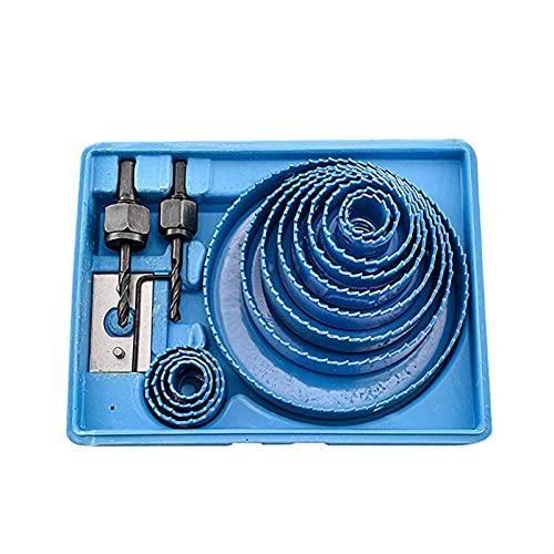 Herramientas industriales Conjunto de broca de cobalto Juego de sierra de orificio de 16pcs Set 45 Acero de carbono Circular Circular Taladro Redondo Corte Adaptador de Arbor para perforaciones de fun