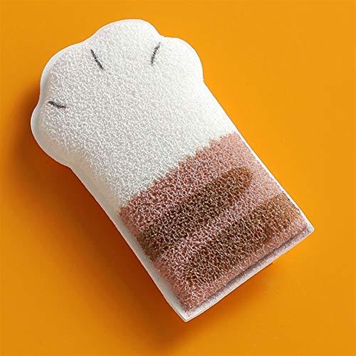 KGDC Cepillo de Ducha Toalla de fregado Fuerte para baño doméstico, frotando hacia atrás y bañando de algodón de Mano pequeña Cepillos Corporales (Color : B)