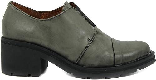 Zapato - Tacón - Elástico - Piel - gris