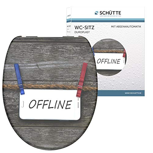 SCHÜTTE 82157 Duroplast WC-Sitz OFFLINE mit Absenkautomatik,
