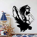 wZUN Pared Abstracta Surf Deportes oceánicos Playa Vinilo Tatuajes de Pared decoración Familiar niño niños Dormitorio 34X33 cm