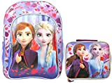 Disney / Frozen II 16' Backpack & Lunch Case - 2 pc Set - Elsa Anna Print