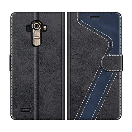 MOBESV Handyhülle für LG G4 Hülle Leder, LG G4 Klapphülle Handytasche Hülle für LG G4 Handy Hüllen, Modisch Schwarz