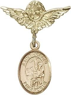 DiamondJewelryNY 14kt Gold Filled St Ambrose Pendant