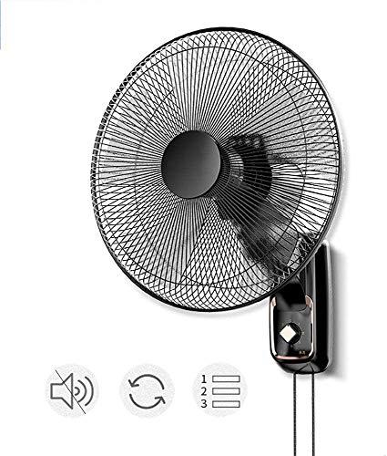 ZYLHC Los Aficionados de Pared Principal Negocio de 17 Pulgadas con la Cuerda del tirón, Zona de inclinación Ajustable de refrigeración Pared Fan con 3 Velocidad / 120 ° Oscilación for/Home industri