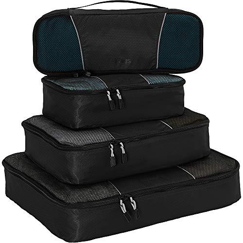 eBags Classic Packing Cubes for Travel - 4pc Classic Plus Set - (Aquamarine)