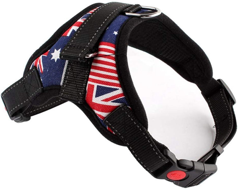 Jim Hugh Large Dog Harness Pet Vest Retriever Big Dog Training Harness Control Handle