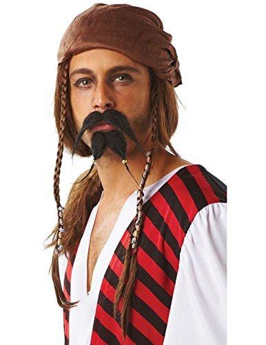 Rubies Officielle Pirate Moustache et Barbiche, pour Adulte – Taille Unique