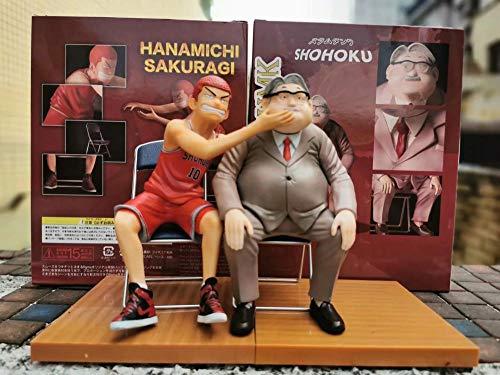 RGERG Anime figuur figuur bank Sakuragi Doudou maakt facelift massage kruk statue voor Coach Anxi ca. 17 cm hoog.