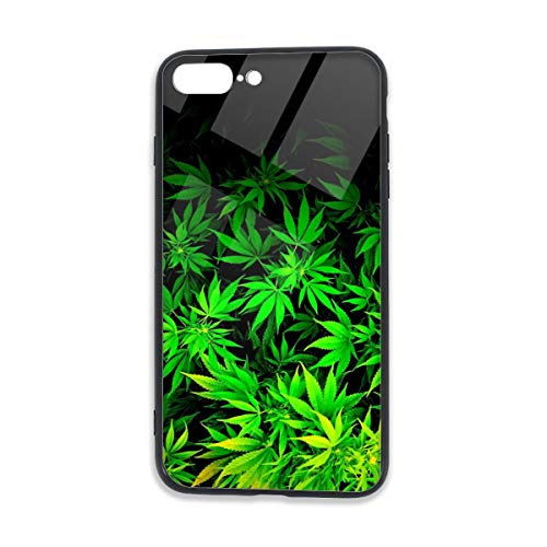 Bnluxuny Cool Green Amazing Weed Leaves Iphone 7 Plus Iphone 8 Plus Tpu Glass Phone Case Shock Absorption Bumper Cover Anti Scratch Clear Back From Amazon Daily Mail