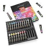 Arteza Set Pittura Gouache Professionale, 24 Tubetti di Colore a Guazzo da 12ml,...