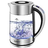Hervidor de Agua Eléctrico de 1.7L,Hervidor de Cristal de 1500 W con Control de Temperatura y Función de mantener...