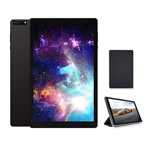 2021 New 10 inch Tablet 5G+2.4G WiFi with case, Octa-Core Tablet, Android 9.0 Pie, 3GB RAM, 32GB ROM, IPS Full HD1920x1200 Display, 5G WiFi, Frosted Metal Body (Black)