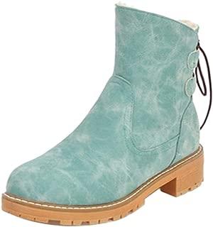 FANIMILA Women Winter Warm Shoes Combat Boots Shoes Multicolor