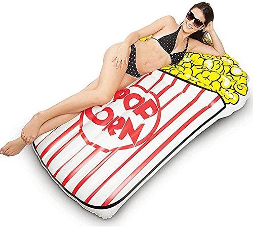 ZHLFDC Grande Oversize Gonfiabile Popcorn Reclining Materasso Gonfiabile Estate Entertainment Piscina Giocattolo di galleggiamento Linea di galleggiamento Letto reclinabile 115 * 170CM