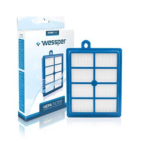 Wessper® Filtre d'échappement pour aspirateur Philips FC9204/02 Marathon (H13, Indélébile)