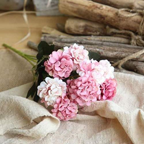 Zzxx Künstliche Blumen mit Chrysanthemen-Kugel, Seide, zweifarbig, für Zuhause, Hochzeit, Dekoration, Blumenstrauß, Rosarot