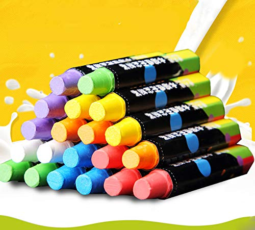 Hereinway 10-Pieces Easy Clean Fun and Educational Bath Time Bath Crayons,Nontoxic Sidewalk Chalk for Kids/Boys/Girls Toddlers (A)