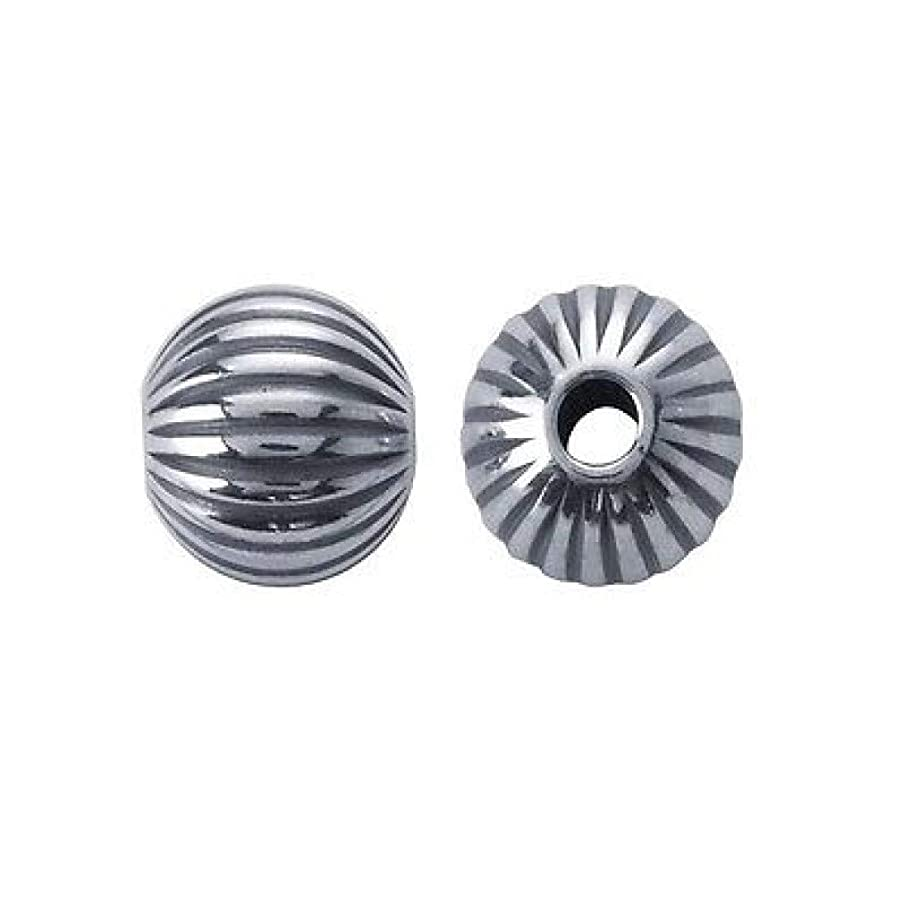 (25) 4mm Sterling Silver Round CORRUGATED Beads 31028