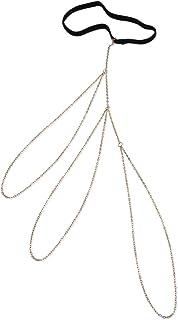 FemNmas Multi Tassel Celebrity Thigh Chain Gold Leg Chain Jewellery for Women Girls