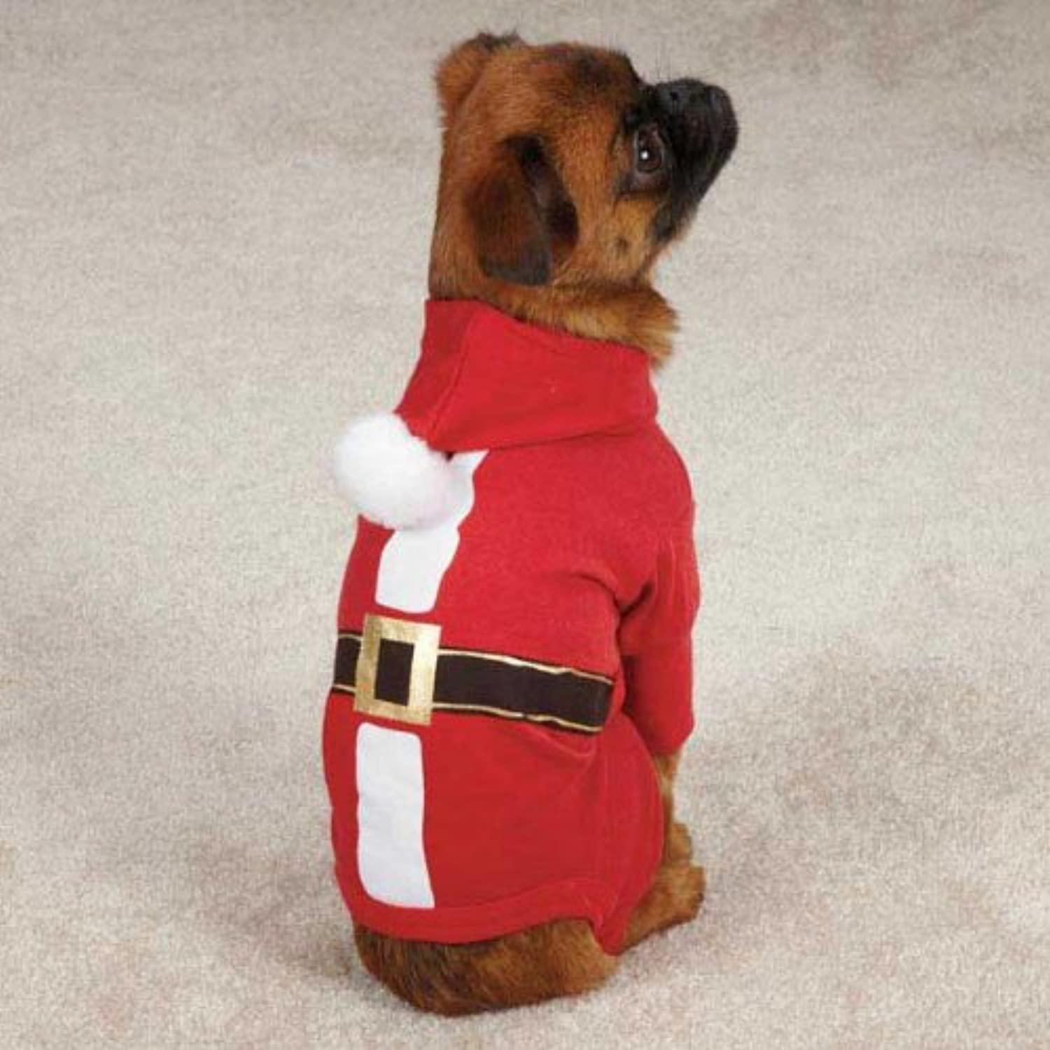 Casual Canine Santa Pajama, Large, Red