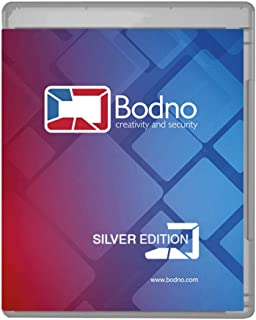 Bodno ID Card Software Program for PC & MAC - Design & Print Photo ID Cards and Gift/Loyalty Cards - Silver Edition
