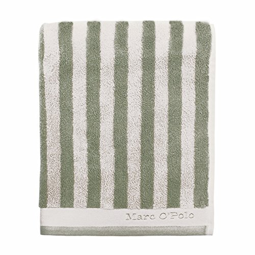 Marc O'Polo Handtücher Classic Stripe Green/Off White Duschtuch 70x140 cm