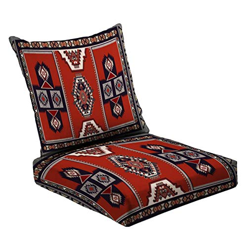 MVEMOEMCA Colorful Vector Design for Rug Towel Carpet Textile Fabric Cover Yoga Deep Seat Cushion Set Plush Surface Backrest and Seat Cushion Outdoor Indoor Furniture Replacement Cushions