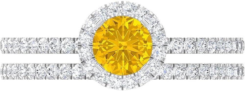 Moissanite Halo Ring Wedding Set Women Trust White for 14K Gold All items in the store